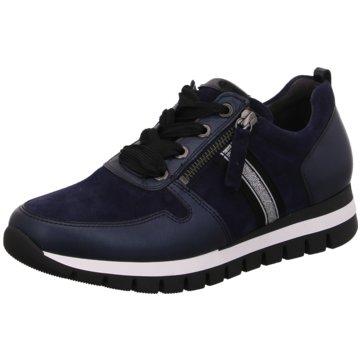 Gabor Bequeme SchnürschuheSneaker blau