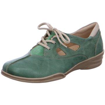 Fidelio Bequeme Schnürschuhe grün