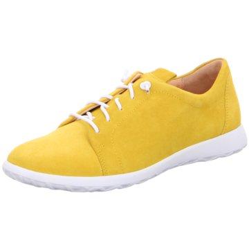 Ganter Sportlicher Schnürschuh gelb