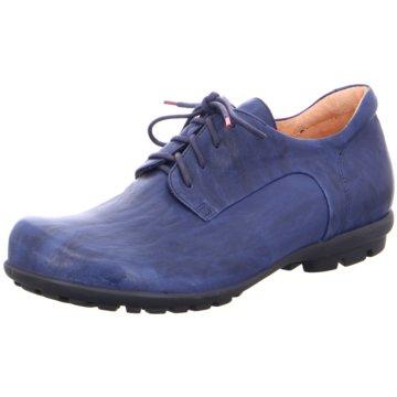 Think Komfort Schnürschuh blau