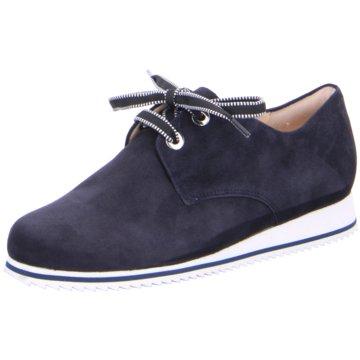 Hassia Komfort Schnürschuh blau