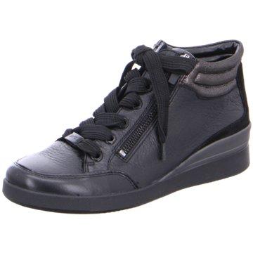 ara Sneaker Wedges schwarz