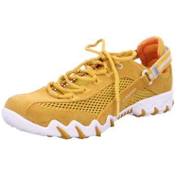 Allrounder Komfort SchnürschuhSneaker gelb