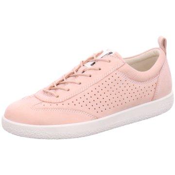 Ecco Sportlicher Schnürschuh rosa