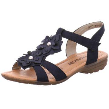 Remonte Komfort Sandale blau