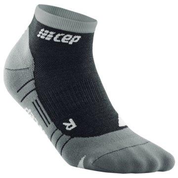 CEP Hohe Socken HIKING LIGHT MERINO LOW-CUT SOCKS - WP2A5 grau