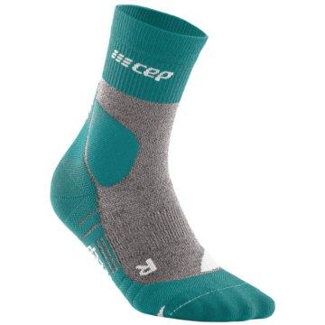 CEP Hohe SockenCE HIKING MERINO MID-CUT SOCKS - WP3C4 grün
