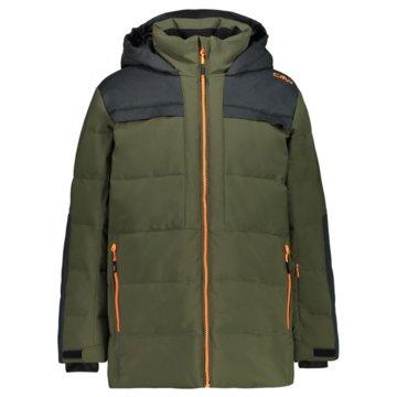 CMP SkijackenKID LONG JACKET FIX HOOD - 30W0184 grün