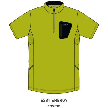 CMP T-ShirtsMAN FREEBIKE T-SHIRT - 3C89757T gelb