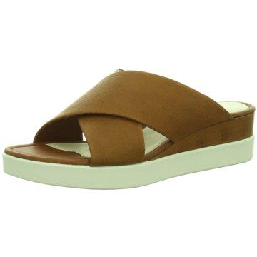 Ecco Komfort PantoletteTouch Sandal Plateau braun