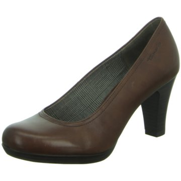 Tamaris Plateau Pumps braun