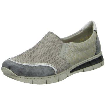 Rieker Sportlicher Slipper grau