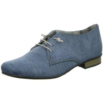 Rieker Komfort Schnürschuh blau