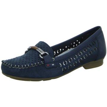Rieker Mokassin Slipper4008514 blau