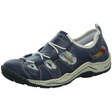 Rieker Komfort SlipperL056114 blau