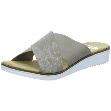 Rieker Komfort Pantolette beige