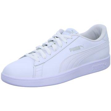 Puma Sneaker LowSmash v2 Leather weiß