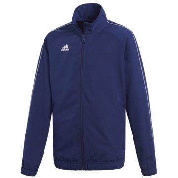 adidas TrainingsjackenCORE18 PRE JKTY - CV3687 blau