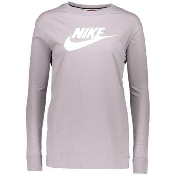 Nike Langarmshirts grau