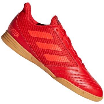 adidas Hallen-SohlePredator 19.4 Sala Fußballschuh - CM8552 rot
