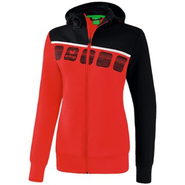 Erima Sweater5-C TRAININGSJACKE MIT KAPUZE - 1031911 rot