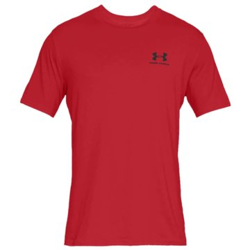 Under Armour FunktionsshirtsSPORTSTYLE LEFT CHEST SS - 1326799 rot
