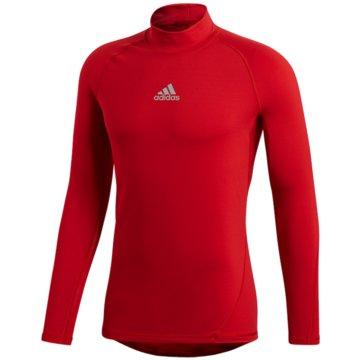 adidas FunktionsshirtsAlphaskin Sport Climawarm Longsleeve rot