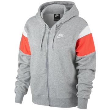 Nike HoodiesW NSW HRTG HOODIE FZ FLC - CJ2305-064 grau