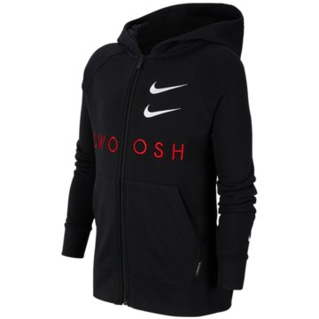 Nike SweatjackenNike Sportswear Swoosh Big Kids' (Boys') Full-Zip Hoodie - CT9452-010 schwarz