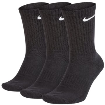 Nike Hohe SockenEveryday Cotton Cushioned Crew Socks 3PPK schwarz