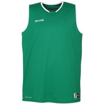 Spalding Basketballtrikots grün