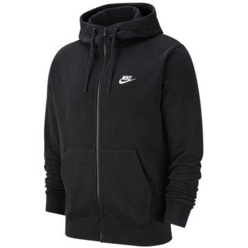 Nike SweatjackenM NSW CLUB HOODIE FZ FT - BV2648 schwarz