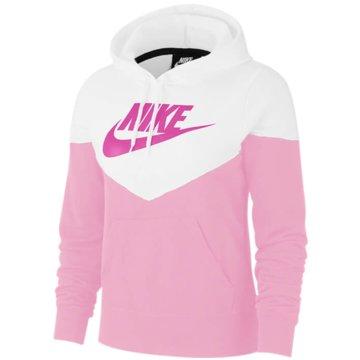 Nike HoodiesNike Sportswear Heritage Women's Fleece Hoodie - AR2509-629 rosa