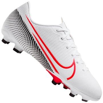 Nike Nocken-SohleNike Jr. Mercurial Vapor 13 Academy MG Kids' Multi-Ground Soccer Cleat - AT8123-160 weiß