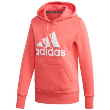 adidas HoodiesMust Haves Badge of Sport Over-head Hoodie Women coral