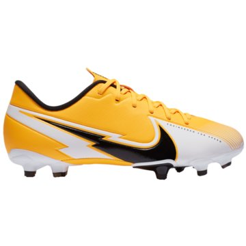 Nike Nocken-SohleNike Jr. Mercurial Vapor 13 Academy MG Kids' Multi-Ground Soccer Cleat - AT8123-801 gelb