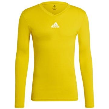 adidas FußballtrikotsTEAM BASE LONGSLEEVE - GN7506 gelb