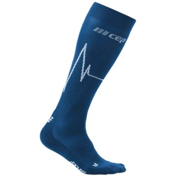 CEP Kniestrümpfe HEARTBEAT SOCKS, DARK CLOUDS, M - WP30C blau