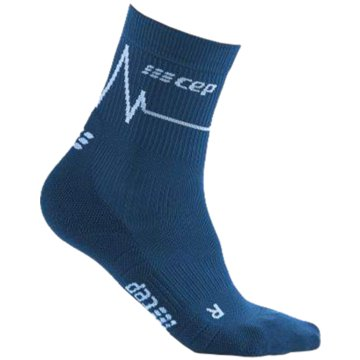 CEP Hohe Socken HEARTBEAT MID-CUT SOCKS, DARK C - WP3CC blau