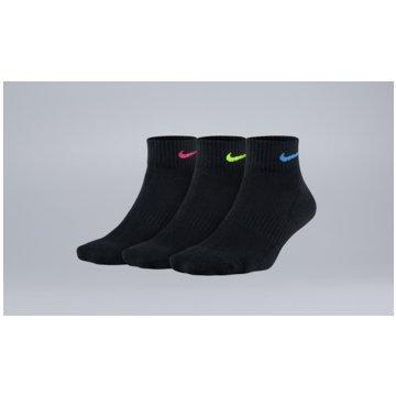 Nike Hohe SockenWomen's Nike Everyday Cushioned Quarter Training Socks (3 Pair) - SX7180-913 -