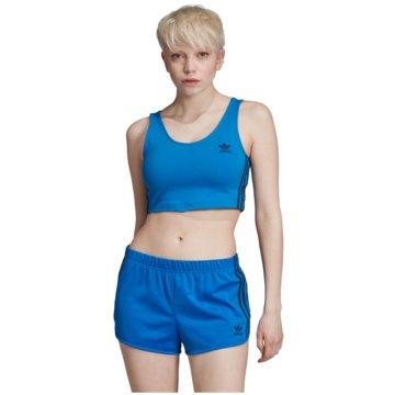 adidas Sport-BHCROP TANK - EJ9346 blau