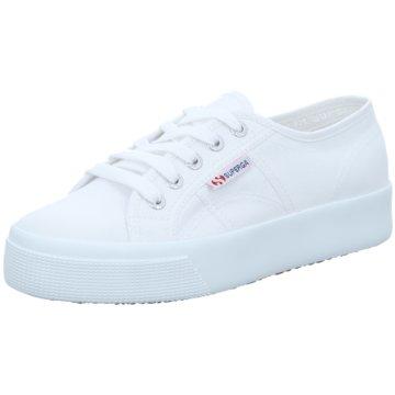 Superga Plateau SneakerCotu weiß