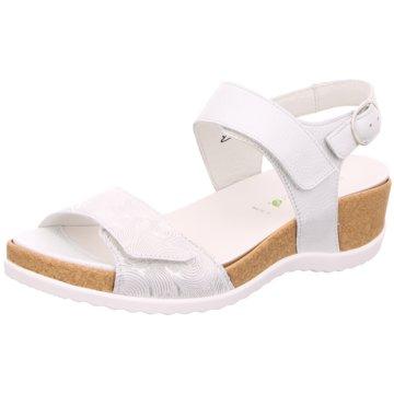 Waldläufer Komfort Sandale weiß