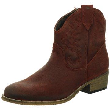 Online Shoes Westernstiefelette rot