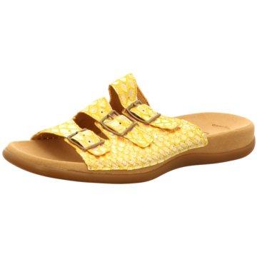 Gabor Komfort Pantolette gelb