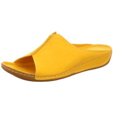 Andrea Conti Komfort Pantolette gelb