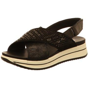 Igi&Co Plateau Sandalette schwarz