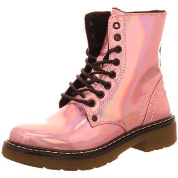 Bullboxer Schnürstiefel pink