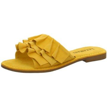 Lazamani Klassische Pantolette gelb