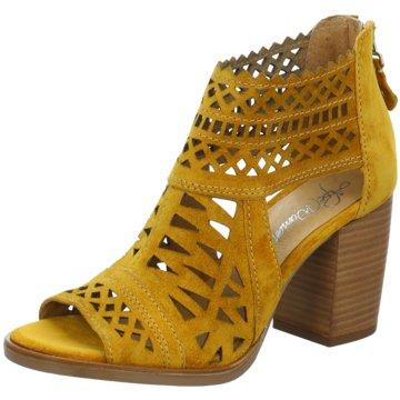 Alpe Woman Shoes Schaftsandalen gelb